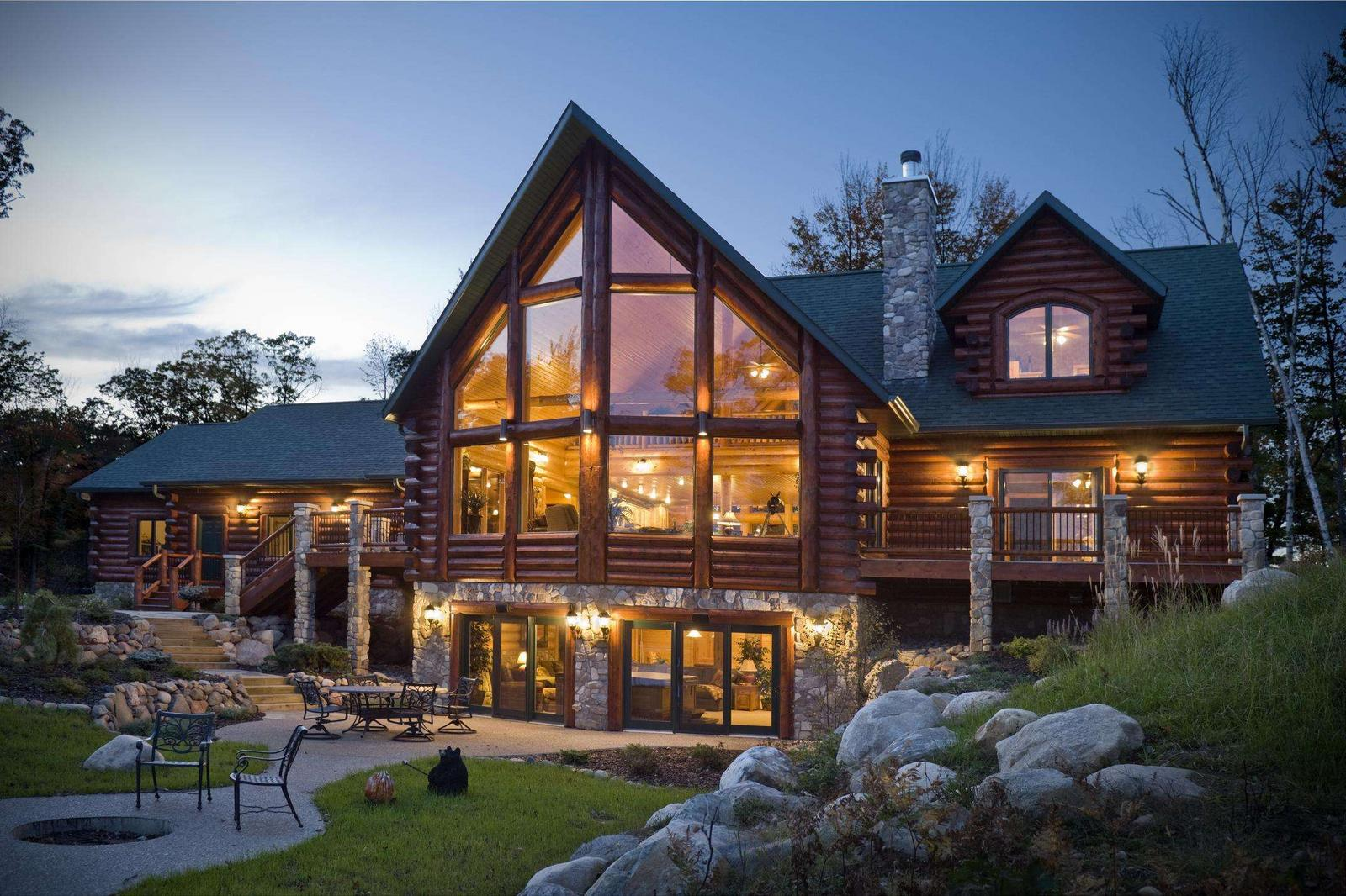 natural-log-cabin-house